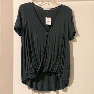 Lush Drape Front T-shirt NWT